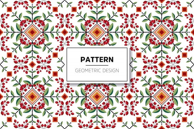 Floral seamless pattern with blooming Free Vector