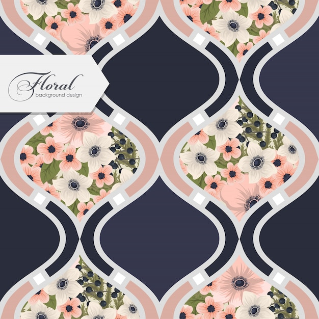 Floral seamless pattern with flowers Free Vector