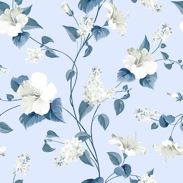 꽃의 완벽 한 패턴입니다. 무료 벡터