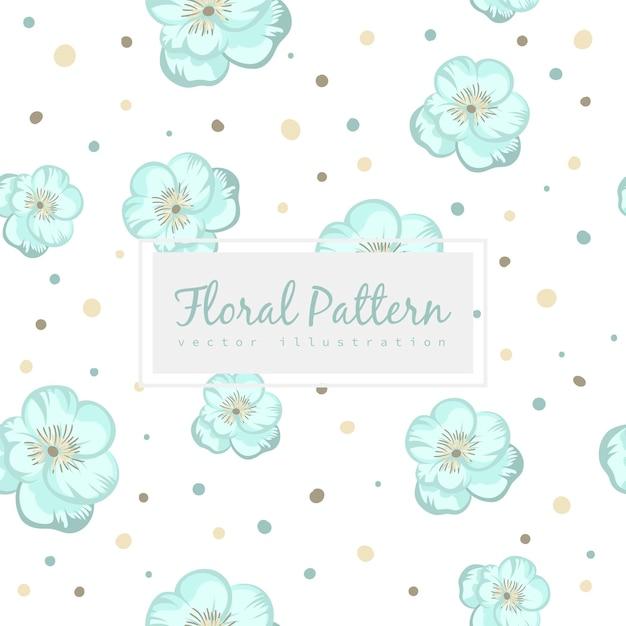花のシームレスなパターン 無料ベクター