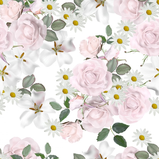 Floral seamless pattern Premium Vector