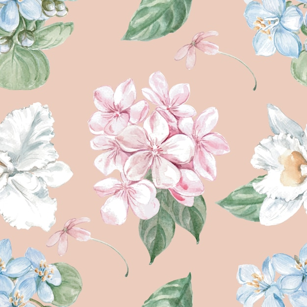 Floral seamless pattern Free Vector