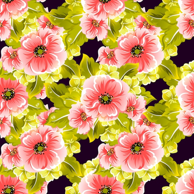 Floral seamless vector pattern Premium Vector