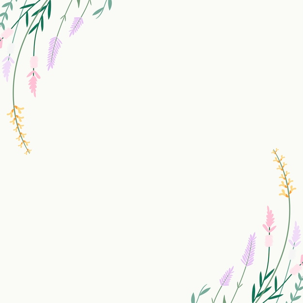 Floral summer background Free Vector