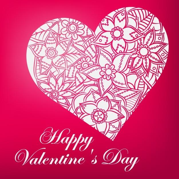 Floral valentine\'s background
