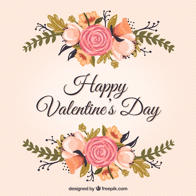 Floral Valentine\'s card