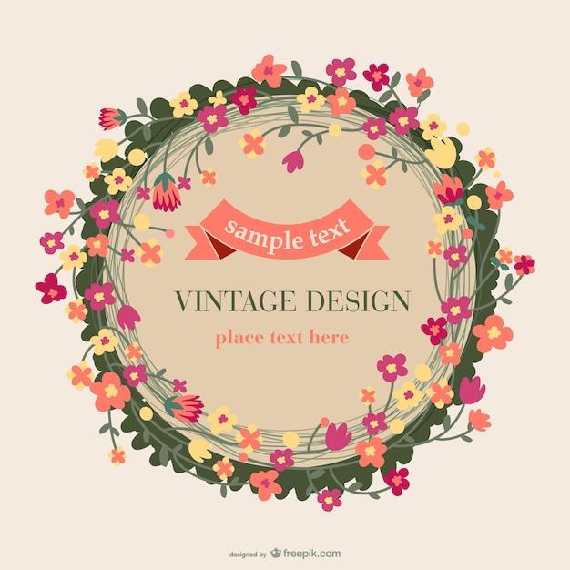 Floral vintage card design vector free download floral vintage card design free vector reheart Choice Image