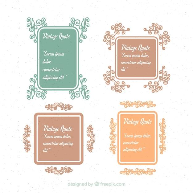 Floral vintage frames for quotes