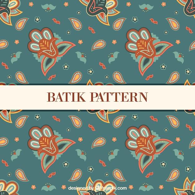 Floral Vintage Pattern In Batik Style Vector