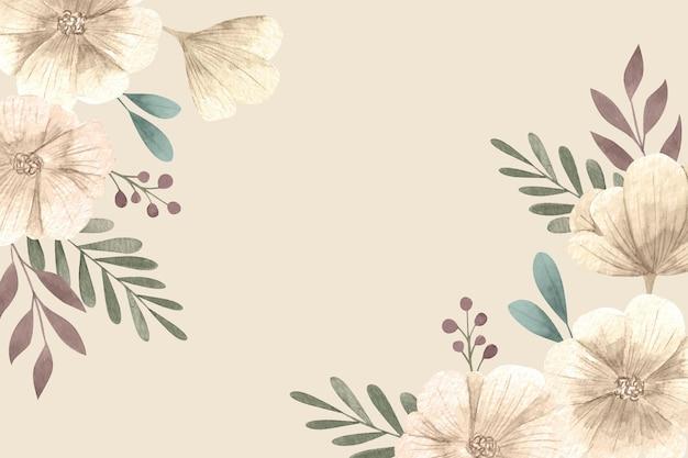 빈 공간이있는 꽃 무늬 벽지 프리미엄 벡터