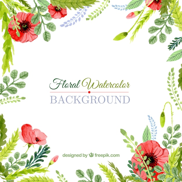 Floral watercolor background vector premium download floral watercolor background premium vector stopboris Images