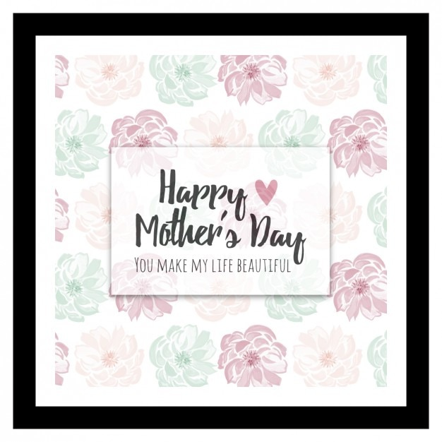 Floral watercolor mother's day background Free Vector