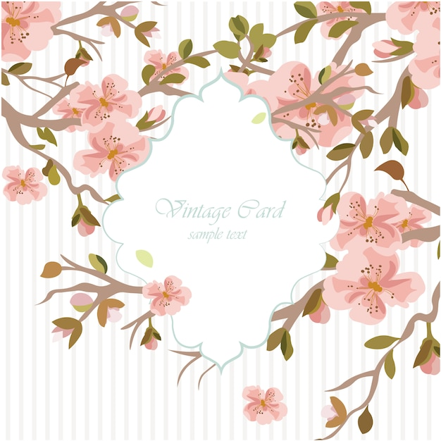 Floral watercolor wedding invitation template Vector ...