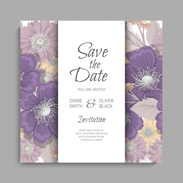 Floral wedding background Free Vector