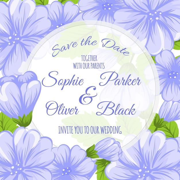free vector  floral wedding card