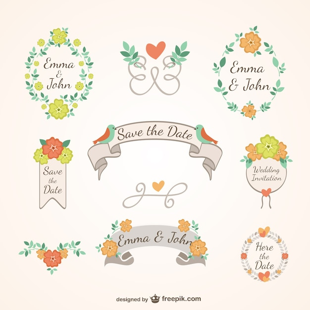 Floral wedding decoration vector free download floral wedding decoration free vector junglespirit Gallery