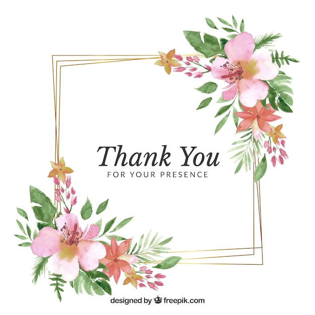 22b385eae8a0 Floral wedding frame template Free Vector