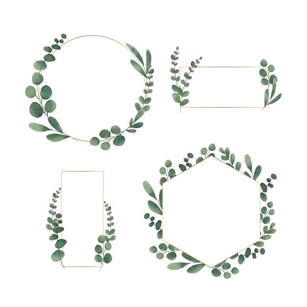 Floral wedding frame Free Vector