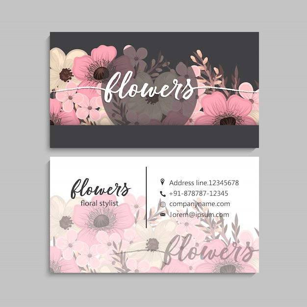 Floral wedding invitation elegant invite card vector Free Vector