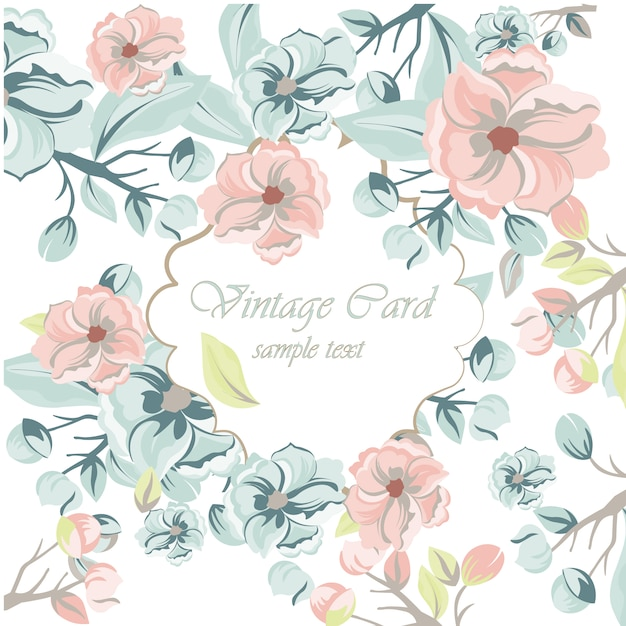 Wedding Flowers Vector Free Download : Floral wedding invitation template vector free download