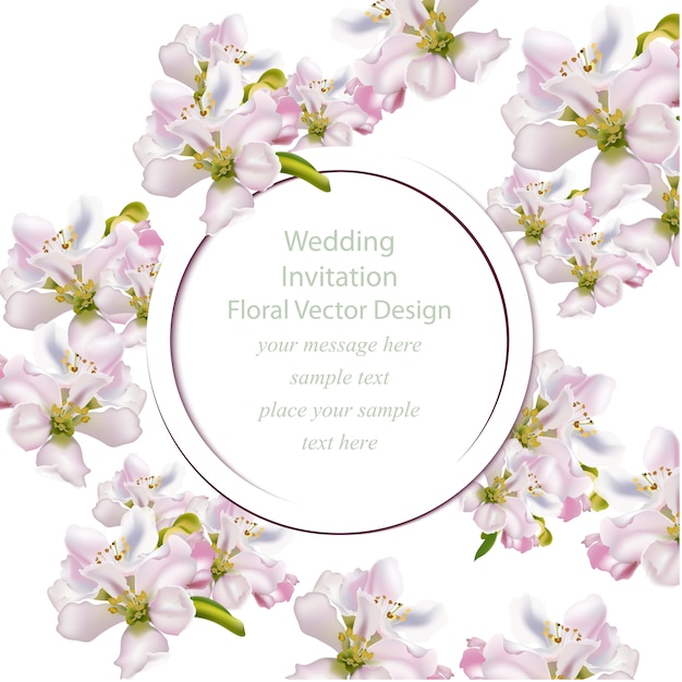 Wedding Flowers Vector Free Download : Floral wedding invitation vector free download