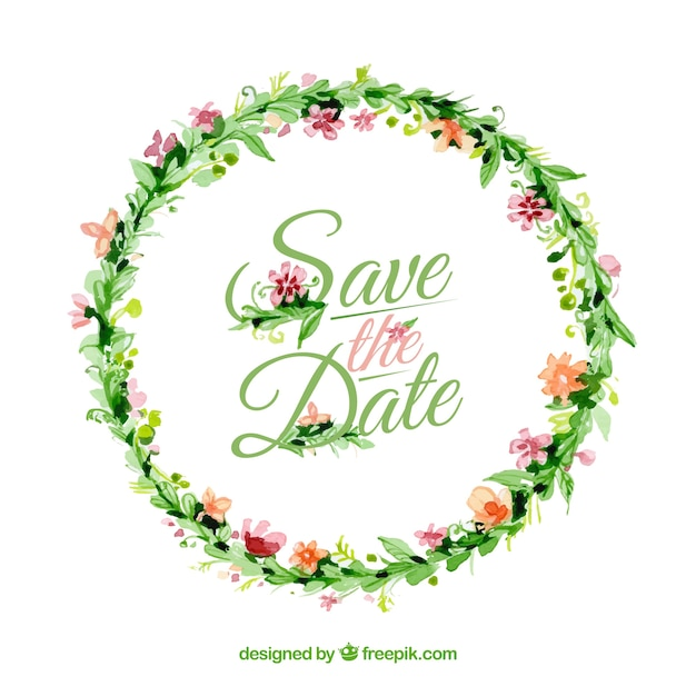 Floral wedding invitation vector premium download floral wedding invitation premium vector stopboris Image collections