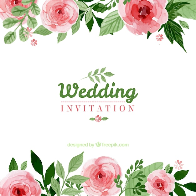 Floral wedding invitation Vector – Floral Wedding Invitations