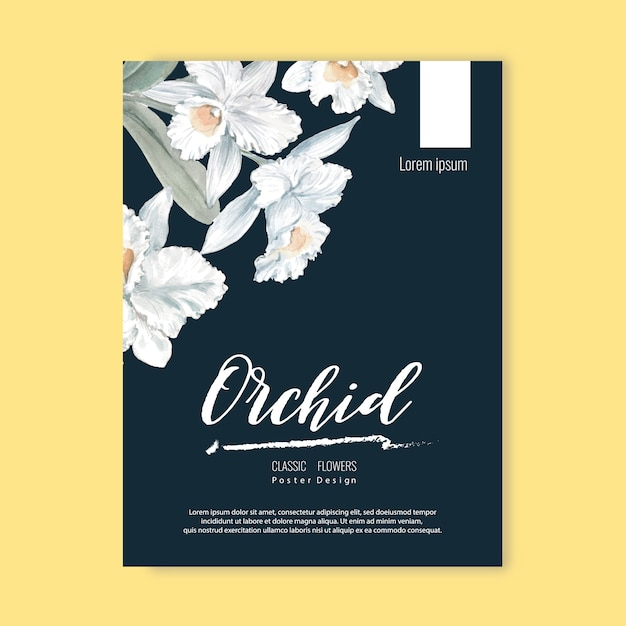 Floral weeding card Free Vector