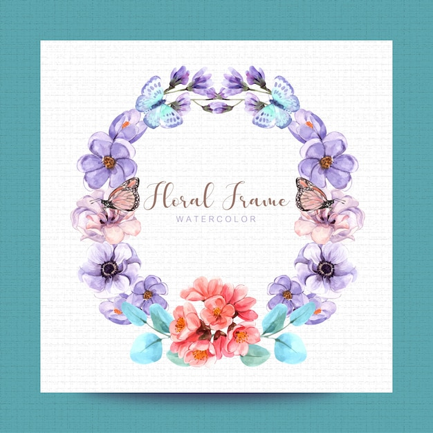 Floral with watercolor painting design, illustration, background