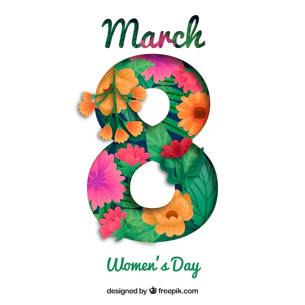 Floral womans day background Free Vector