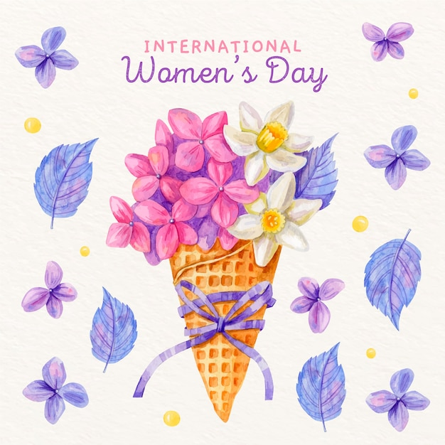 Floral women's day concept Free Vector