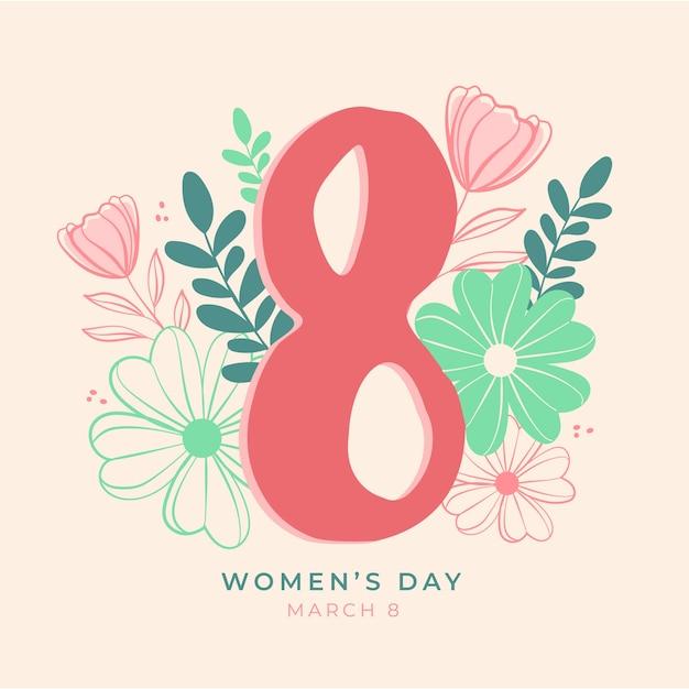 Цветочный женский день Бесплатные векторы