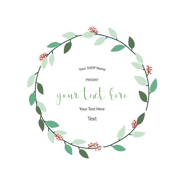 floral wreath template vector free download