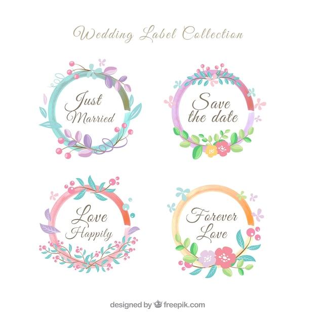 تاج گل مجموعه برچسب عروسی