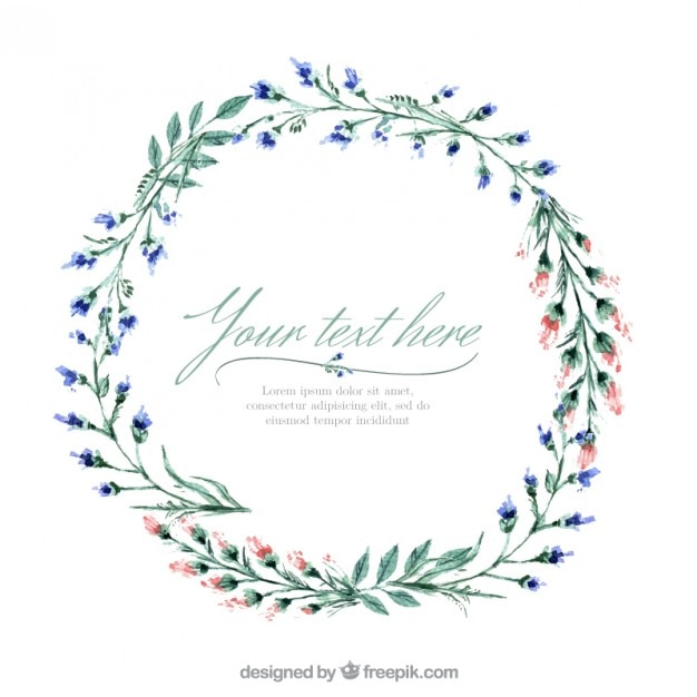 Floral wreath Free Vector