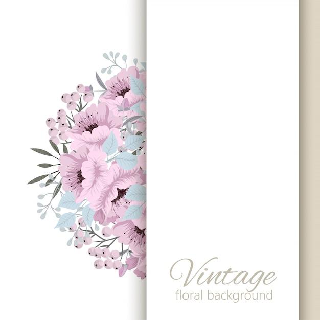 Шаблон свадебных открыток с цветами Бесплатные векторы