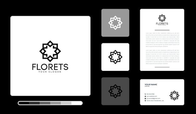 花のロゴのデザインテンプレート Premiumベクター