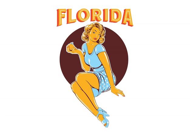 Флорида прикалывать девушек | Премиум векторы