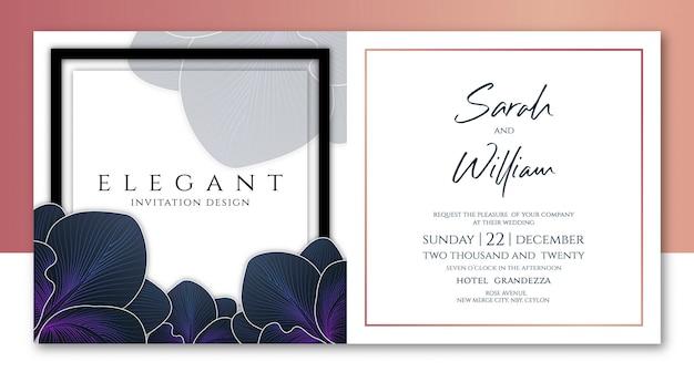 Florist invitation template Premium Vector