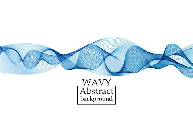 フロー形状。液体波背景。抽象的なフロー形状。 Premiumベクター