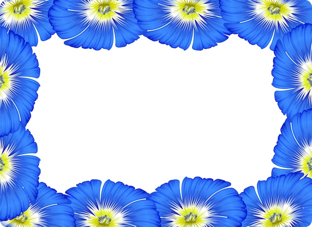 Flower border card concept background Free Vector