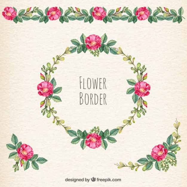 flower border vector free download