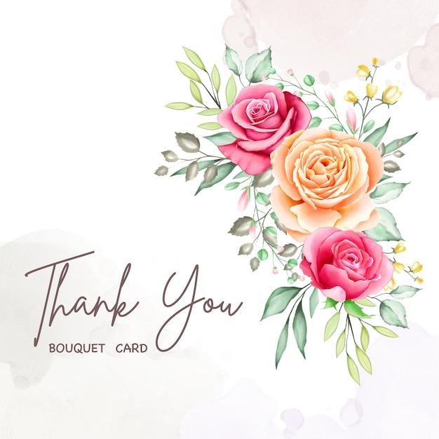 Flower bouquet frame watercolor collection Premium Vector