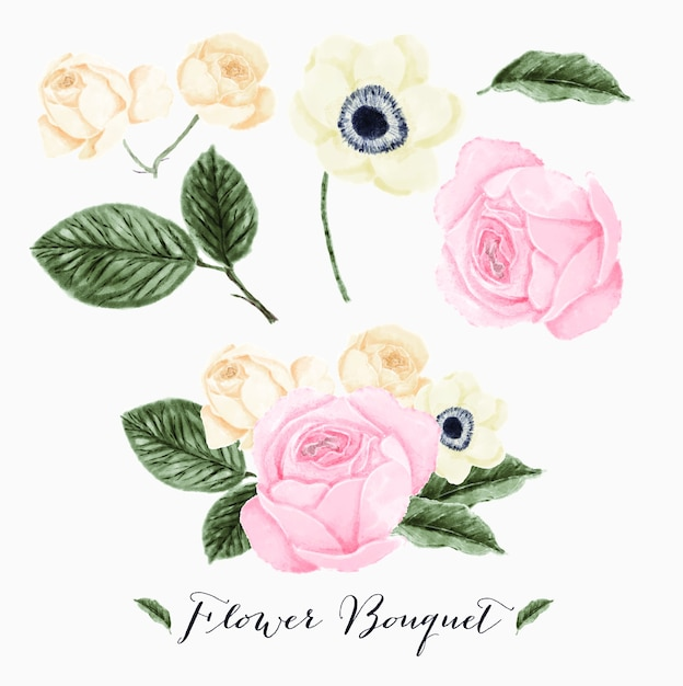 Flower bouquet Premium Vector