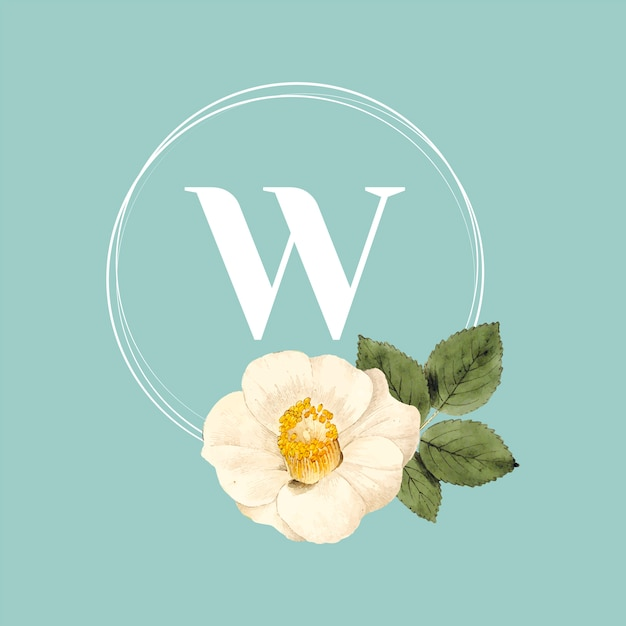 Flower brand logo template Free Vector