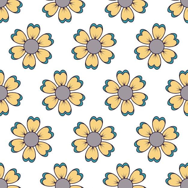 Flower design seamless pattern Premium Vector