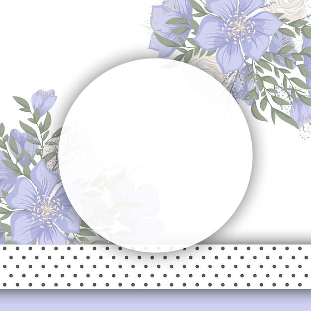 꽃 디자인 테두리-푸른 꽃 무료 벡터