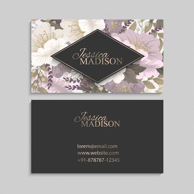 Flower designs border - pink flowers Free Vector