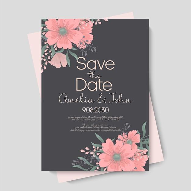 結婚式のための花 無料ベクター