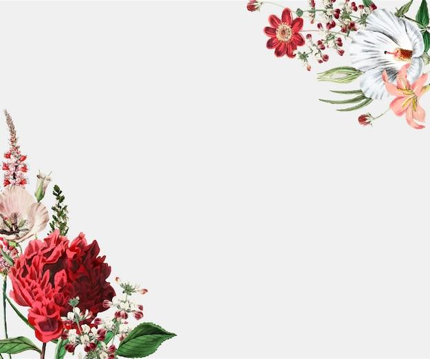 Flower frame design Free Vector